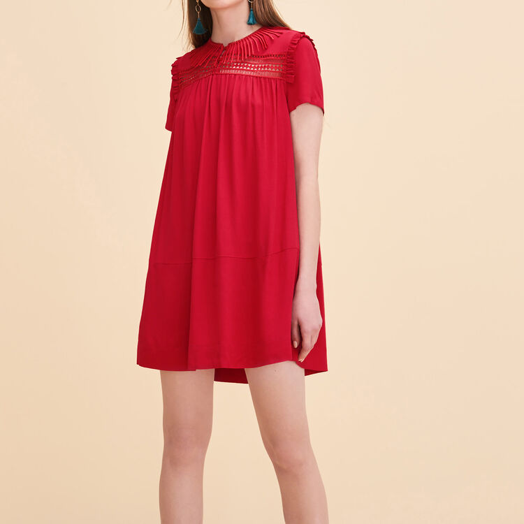 Robe fluide avec broderies - Robes - MAJE
