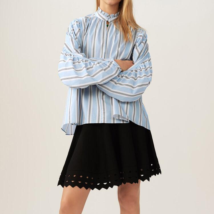 마쥬 펀칭 치마 MAJE JUNE - Jupe en maille ajouree - Jupes & Shorts