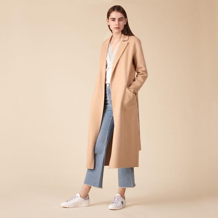 Manteau en laine mélangée -  - MAJE