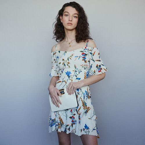 마쥬 RHINA 프린티드 베어 숄더 미니 원피스 MAJE RHINA Robe courte imprimee A epaules denudees,Imprime