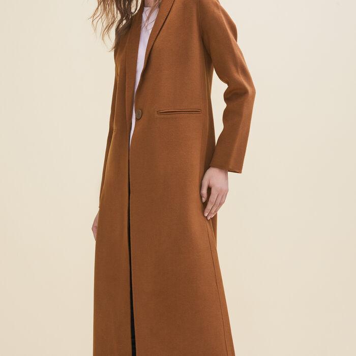 Manteau long en laine double face -  - MAJE
