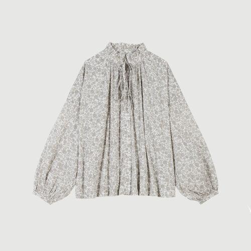 마쥬 MAJE CERISIER Chemise en coton A imprime floral,Gris