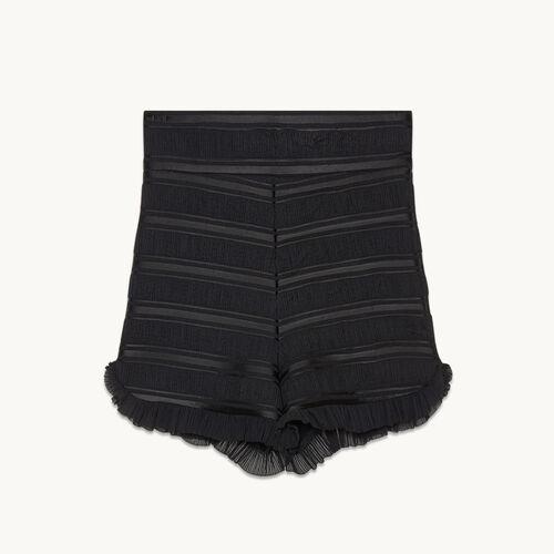Short taille haute volanté - Jupes & Shorts - MAJE