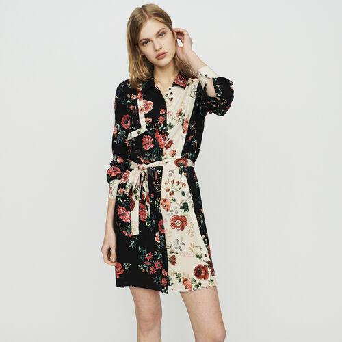 마쥬 플로럴 원피스 MAJE RILLER Robe-chemise A imprime floral,IMPRIME