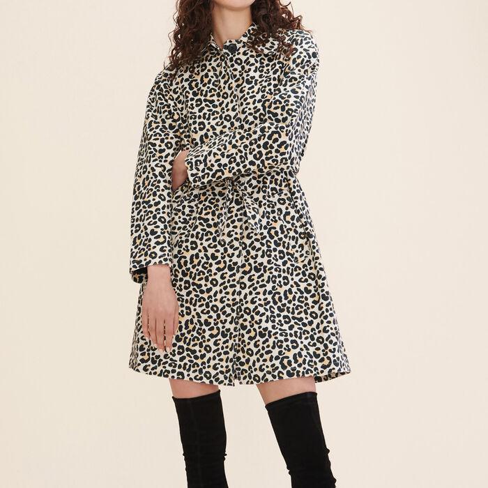 Manteau imprimé léopard -  - MAJE