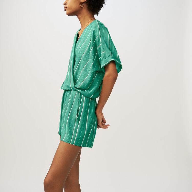 마쥬 스트라이프 점프 수트 MAJE IPANDONI - Combi-short A rayures - Jupes & Shorts