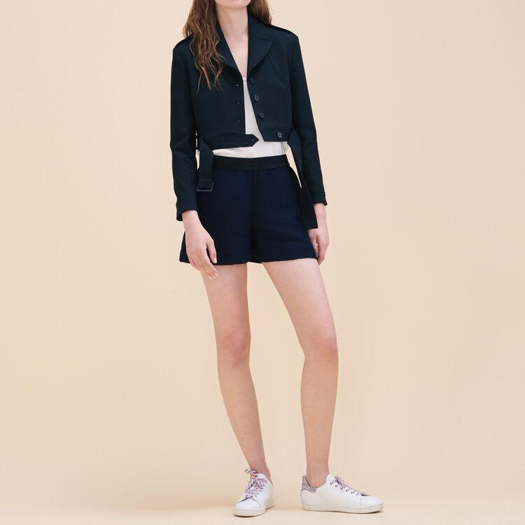 Short court en tissu ottoman - Jupes & Shorts - MAJE