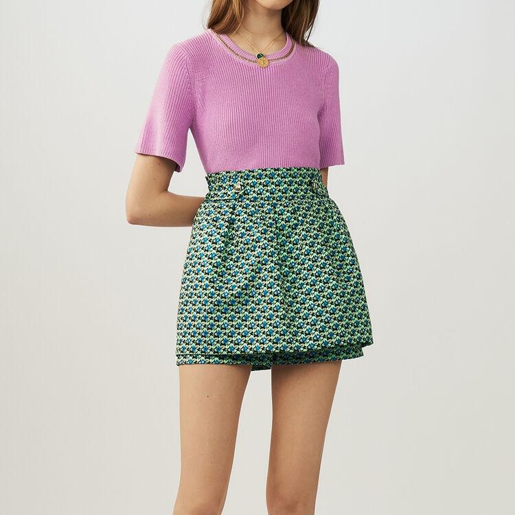 마쥬 치마 바지 MAJE IDEN - Short-jupe en jacquard - Jupes & Shorts