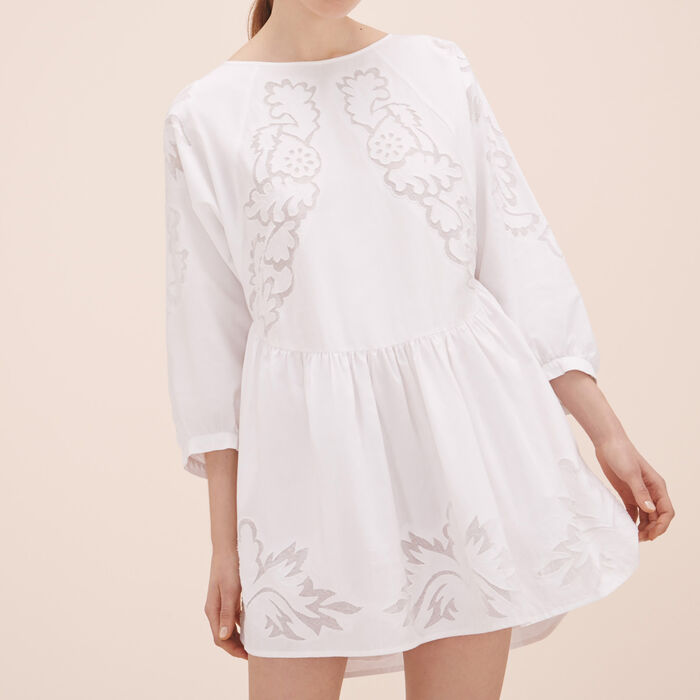 Robe loose avec broderies -  - MAJE
