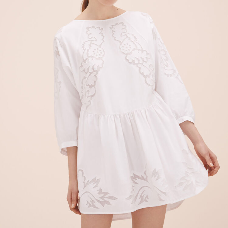 Robe loose avec broderies - Robes - MAJE