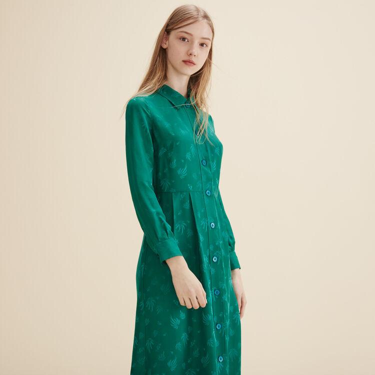 Robe chemise en soie - Robes - MAJE