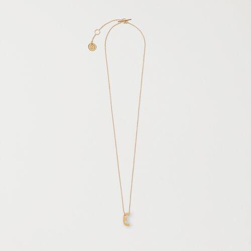 Collier avec pendentif initial - Bijoux - MAJE