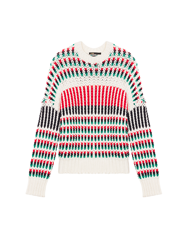 Pull en maille fantaisie multicolore - Maille - MAJE