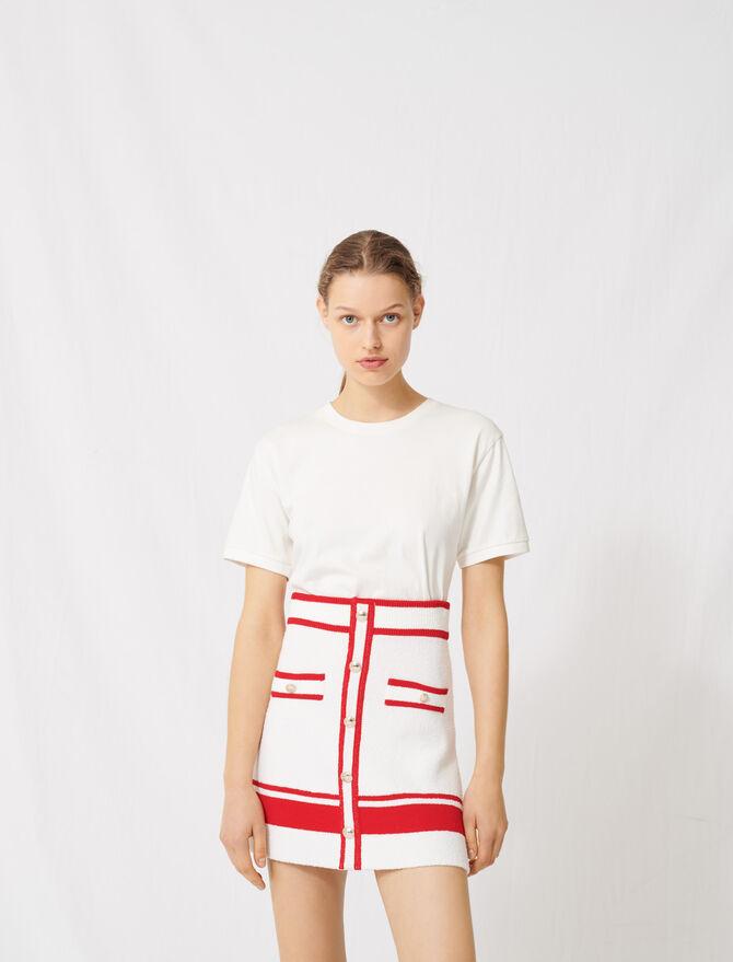 Jupe trapèze à bandes contrastées - Jupes & Shorts - MAJE