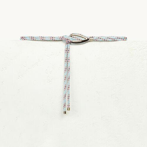 Ceinture en corde avec bijou - null - MAJE