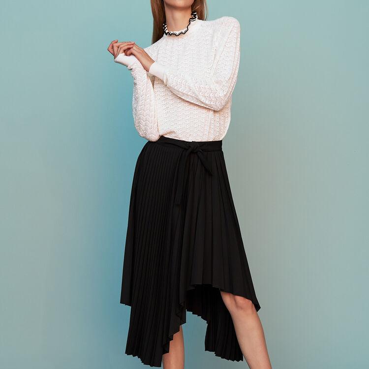 def6345b20d7f Jupes   Shorts true Jupe plissée asymétrique   Jupes   Shorts couleur Black