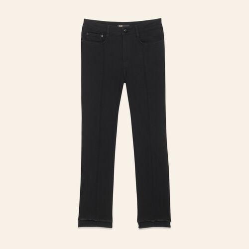Jean droit avec bas asymétrique - Jeans - MAJE