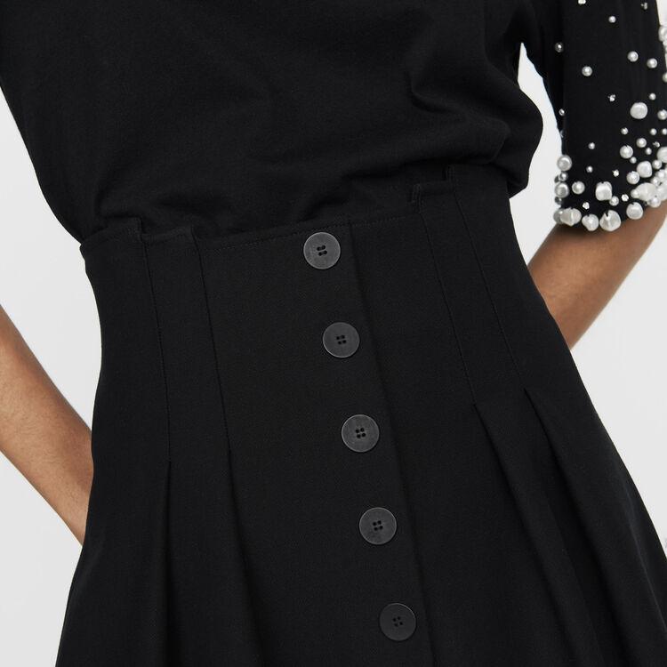 Jupe courte avec jeu de plis : Jupes & Shorts couleur Black