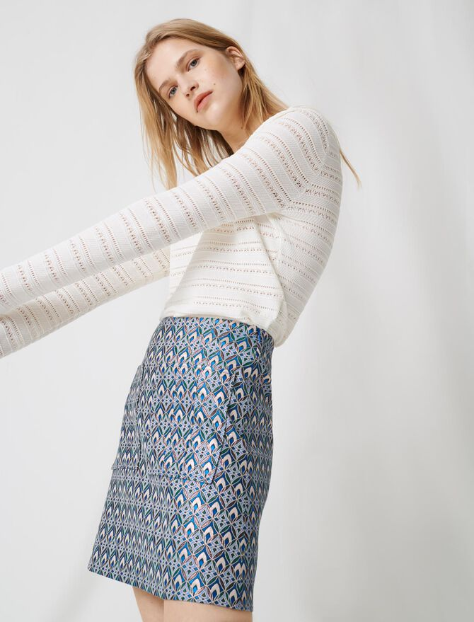 Jupe en jacquard lurex - Jupes & Shorts - MAJE