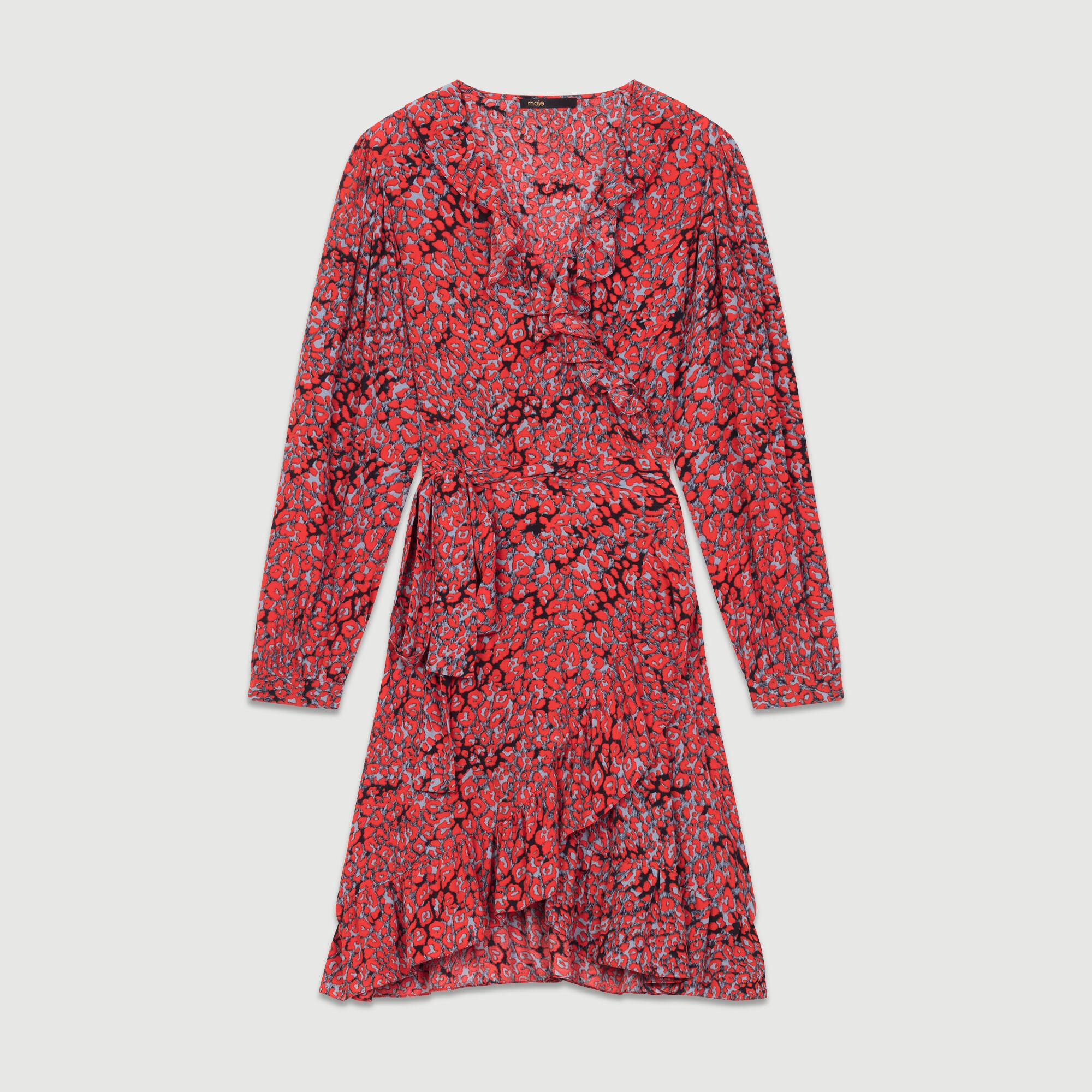Robe maje leopard rouge
