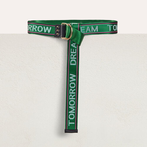 "Ceinture sangle ""Dream Tomorrow"" : Ceintures couleur Vert"