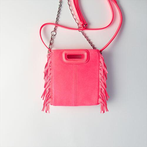 Sac porté croisé en velours matelassé : M Mini couleur Rose Fluo