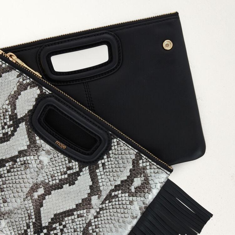 Pochette M Duo en cuir de serpent : M Duo couleur Black