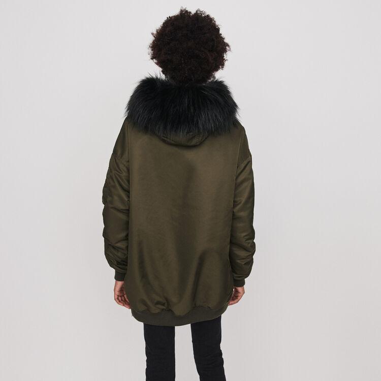 Parka façon bomber à capuche : Manteaux & Blousons couleur Kaki