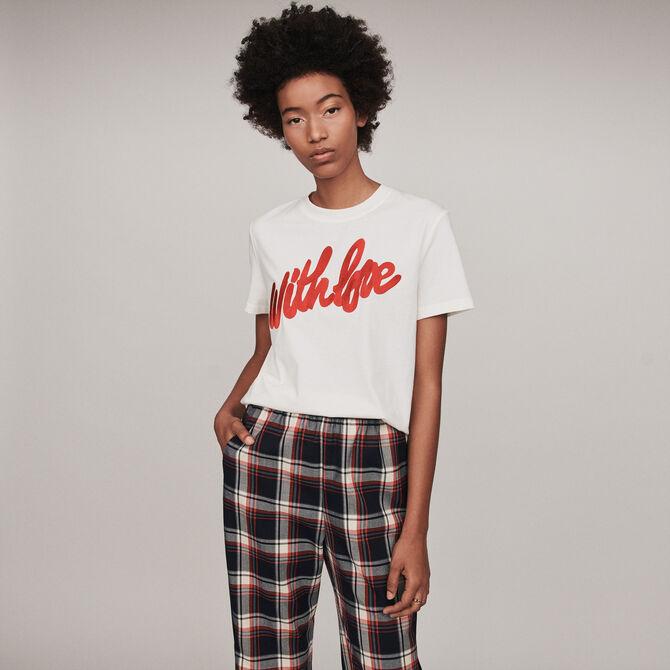 Tee-shirt à message brodé - Lastchance_Tops_chemises - MAJE