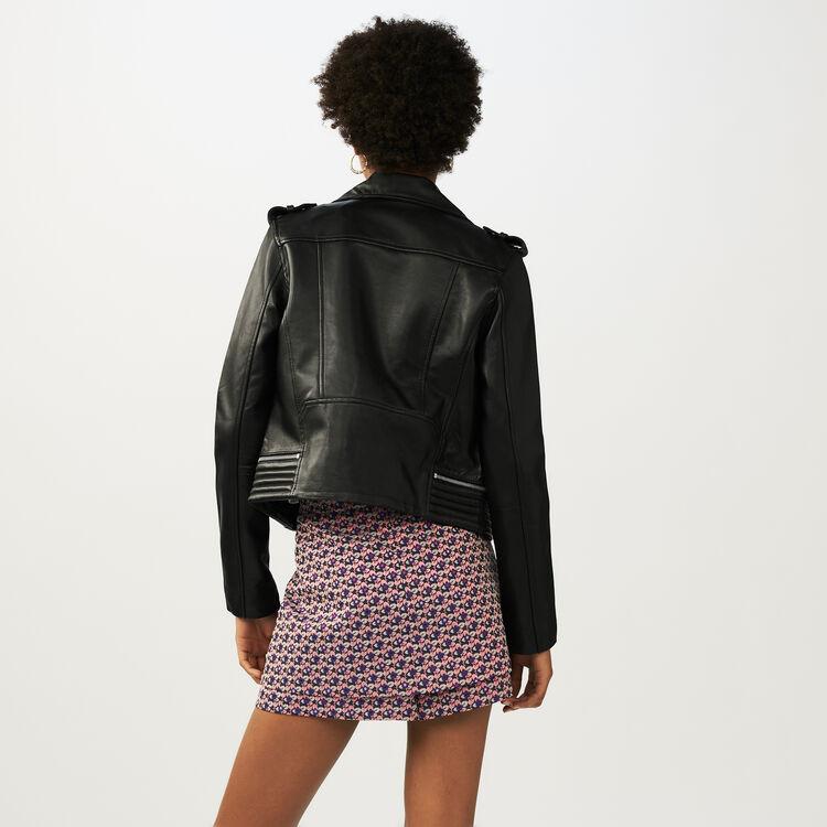 Blouson en cuir : Blousons couleur Black