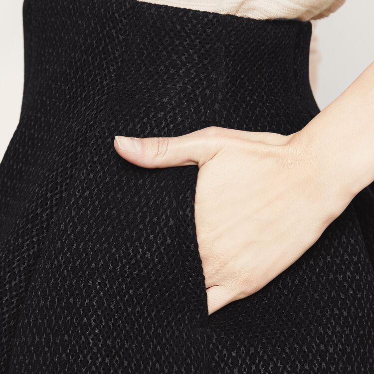 Jupe courte en maille basket : Collection couleur BLACK
