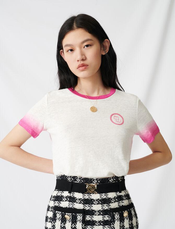 T-shirt monogrammé finitions tie & dye - T-Shirts - MAJE