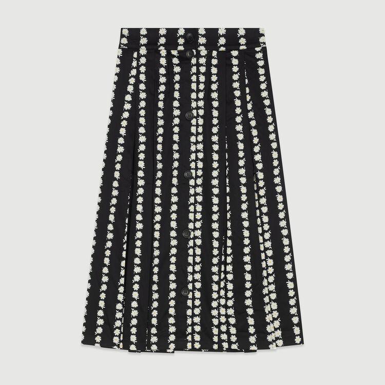 Jupe longue à imprimé marguerite : Jupes & Shorts couleur IMPRIME