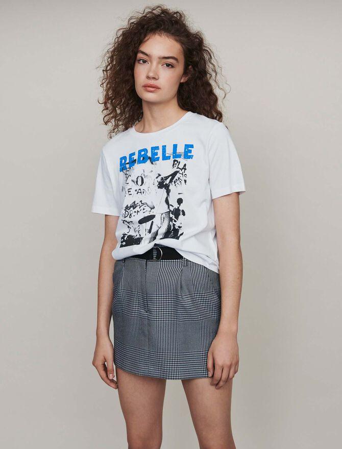 Tee-shirt sérigraphié -  - MAJE