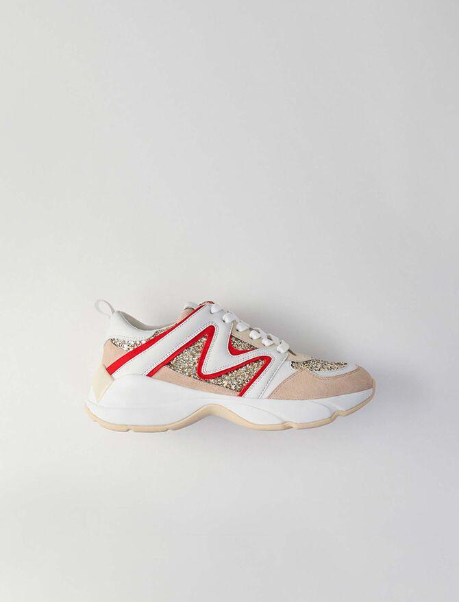 Sneakers W22 à paillettes - LastchanceDE-Accessoires - MAJE