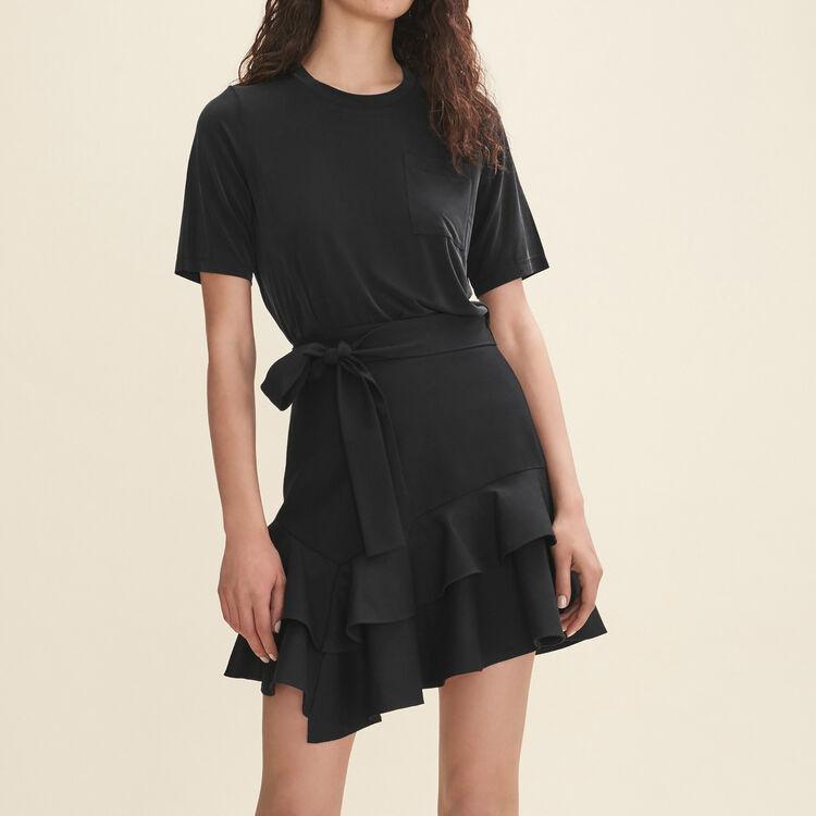 Jupe courte volantée : Jupes & Shorts couleur Black