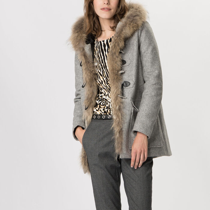 Duffle coat en laine vierge et cachemire -  - MAJE