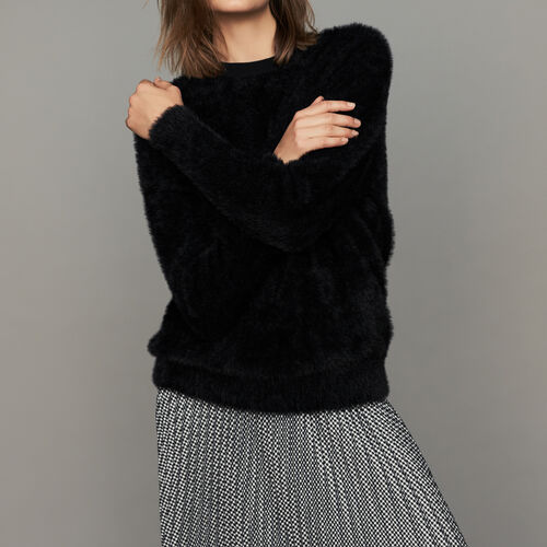 Pull texturé : Maille couleur Black