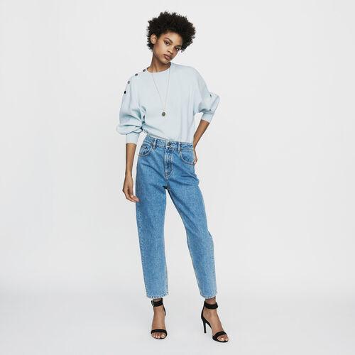 Jean large en denim délavé : Pantalons & Jeans couleur Denim