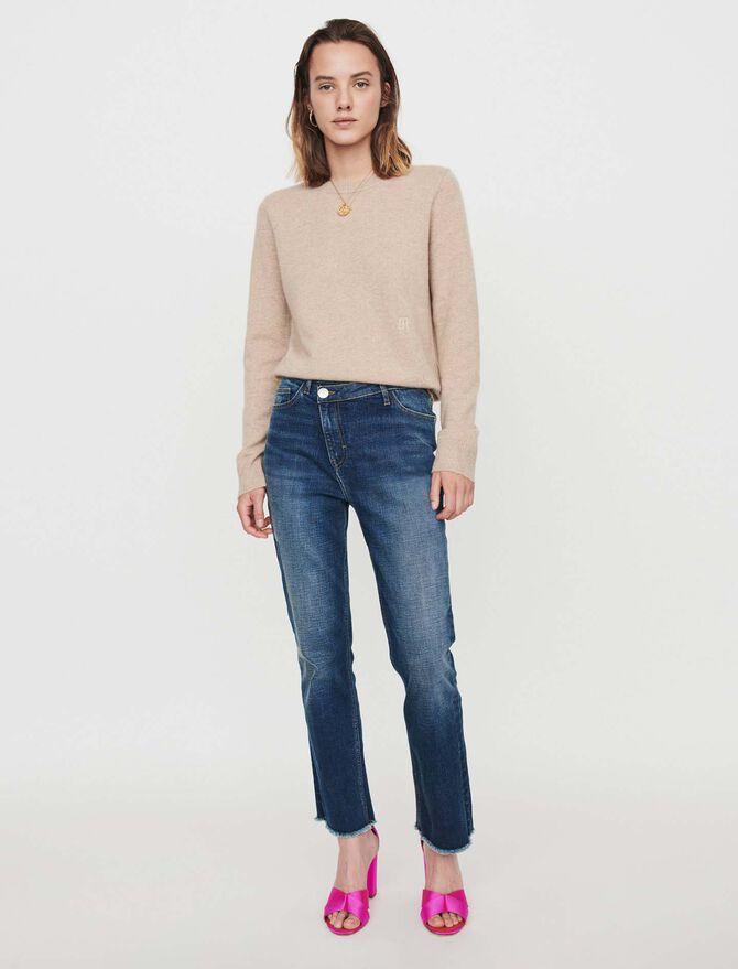 Jean à  ceinture décalée - Pantalons & Jeans - MAJE