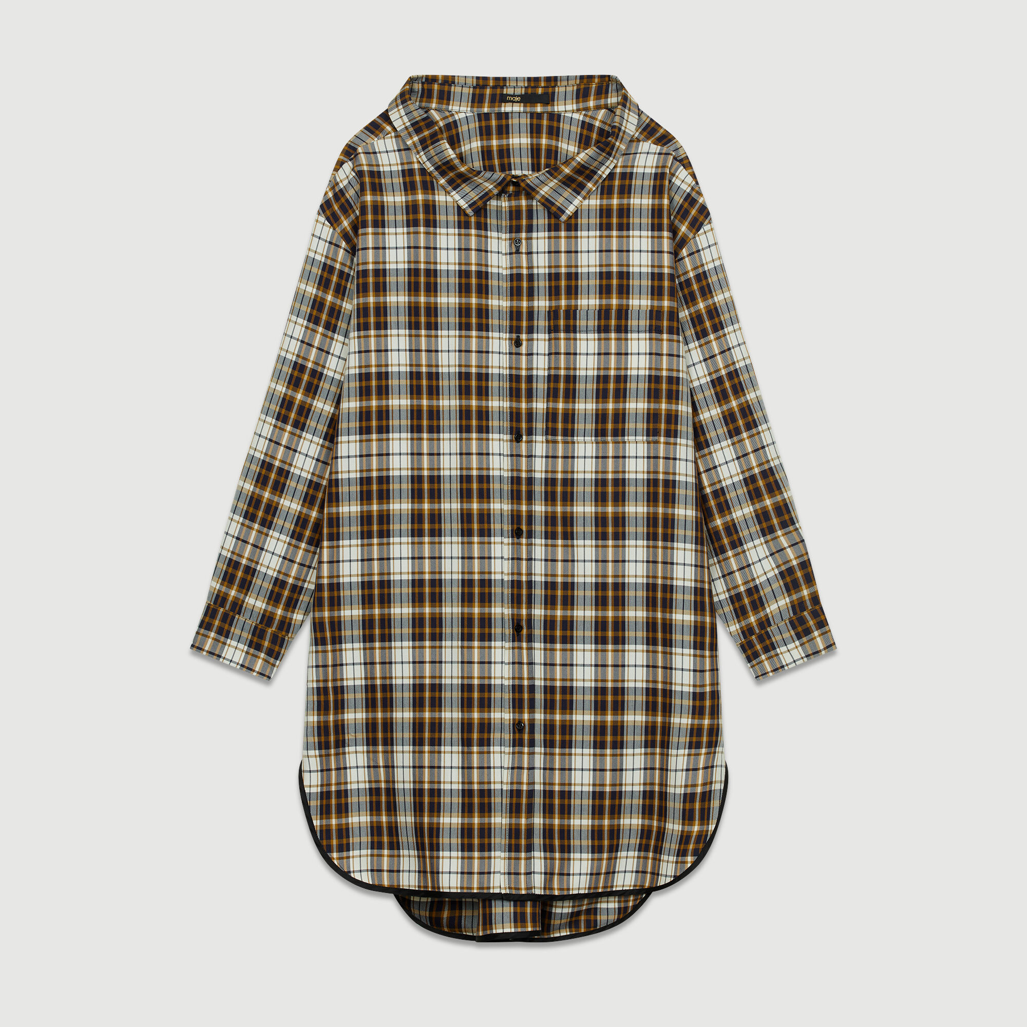 À Romel Robes Robe Paris Maje Chemise Carreaux RqqHw1E