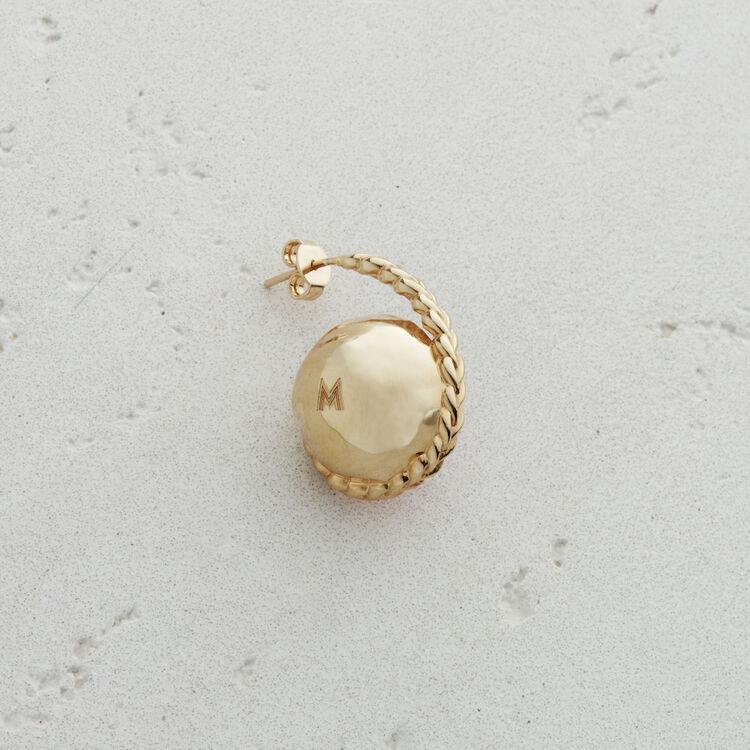 Boucle d'oreille gauche en pierre : Bijoux couleur ROSE PALE