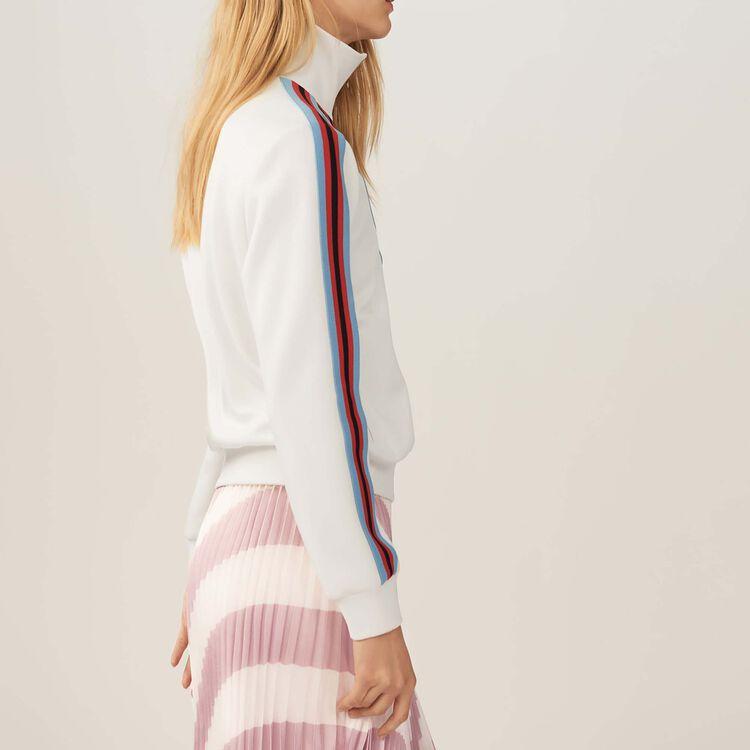 Veste de survêtement : Maille couleur BLANC