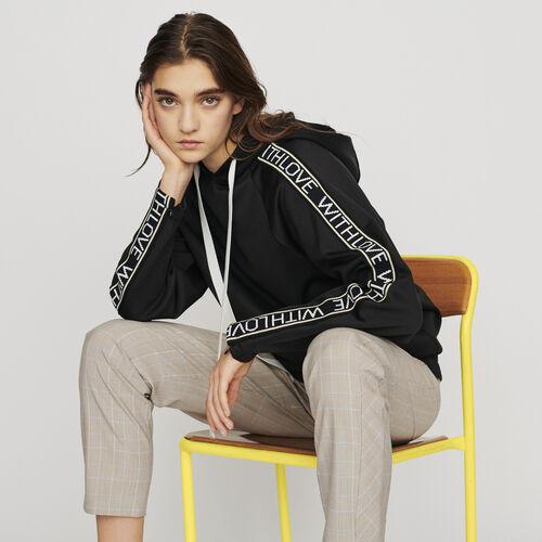 Sweat-shirt à capuche : Pulls & Cardigans couleur Black