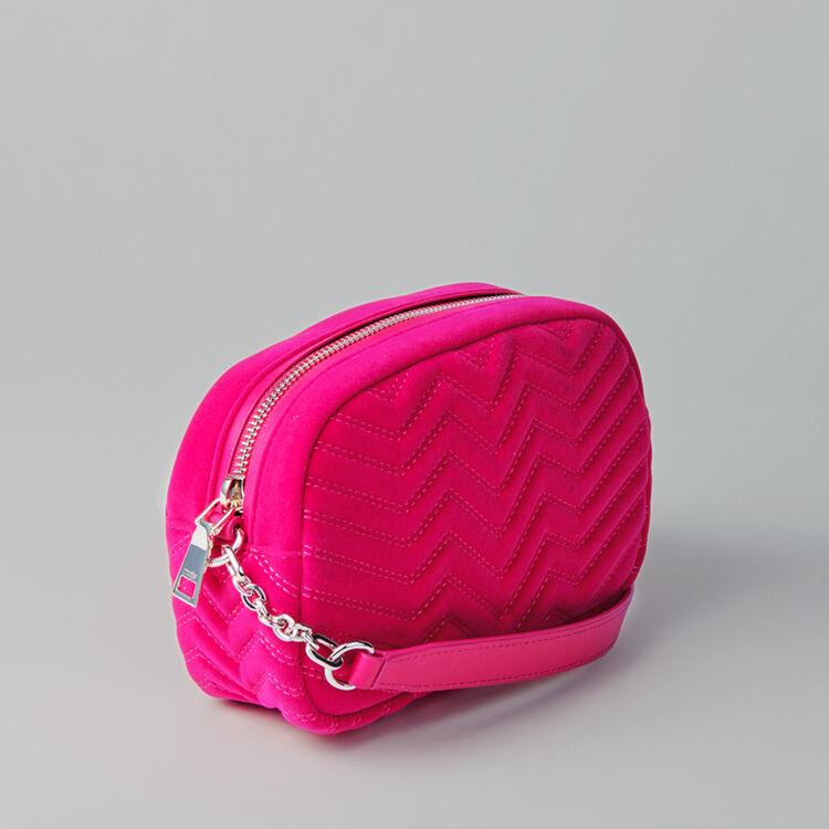 Sac porté épaule en velours matelassé : Sac Sami couleur ROSE
