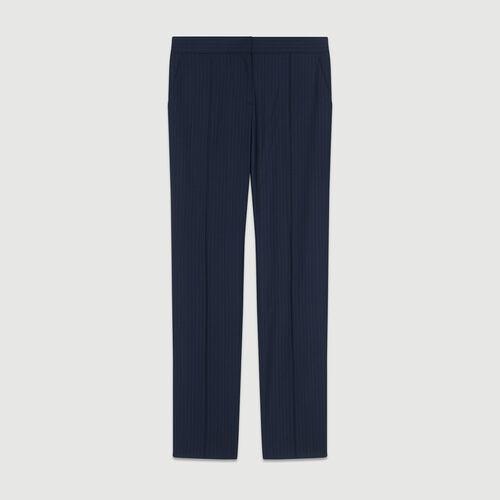 Pantalon de tailleur à rayures tennis : Pantalons couleur RAYURE