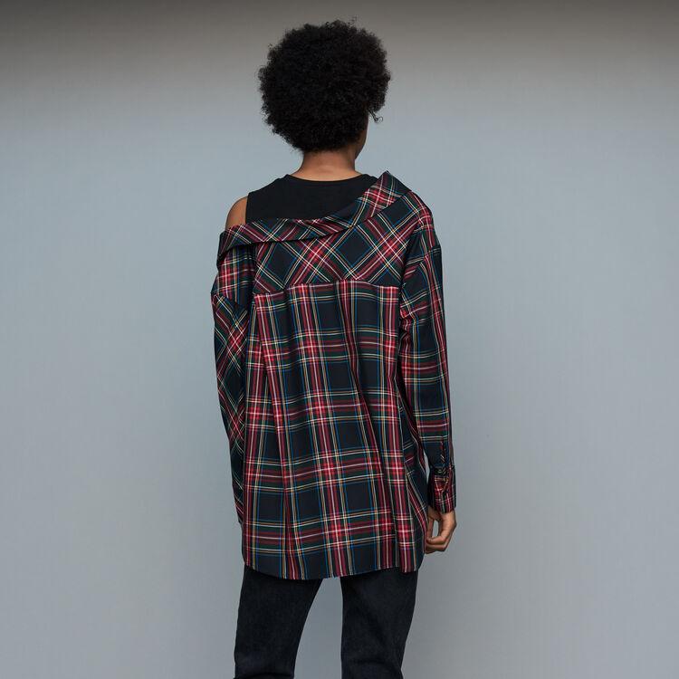 Chemise déstructurée à carreaux : Chemises couleur CARREAUX