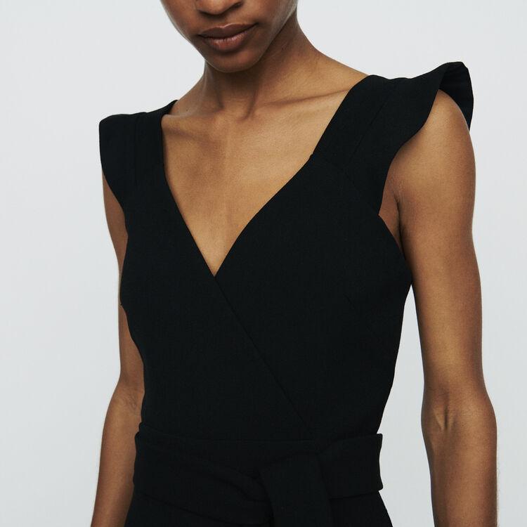 Combinaison-short en crêpe : Jupes & Shorts couleur Black