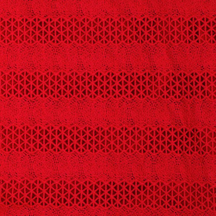 Top brodé : Tops couleur Rouge
