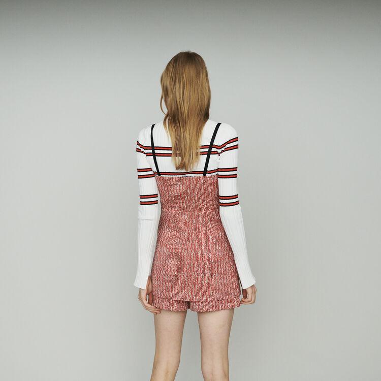 Robe trompe-l'œil façon tweed : Robes couleur Rouge